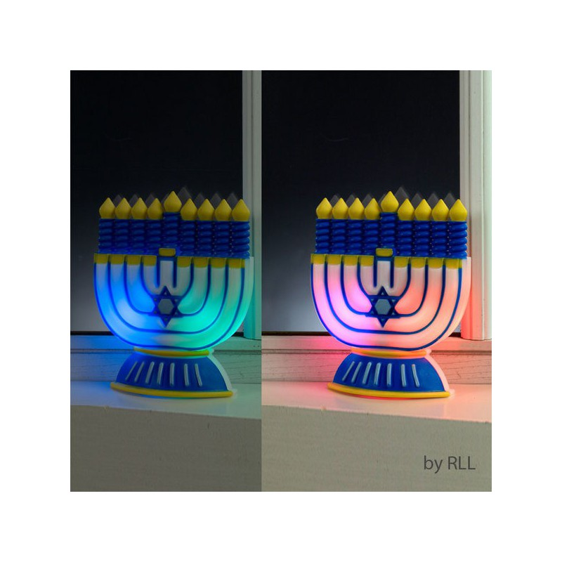 hanoukia deco led change de couleur jplanete tout le judaica en un clic. Black Bedroom Furniture Sets. Home Design Ideas